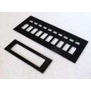 Upper Console s3/4 overlays set aluminium